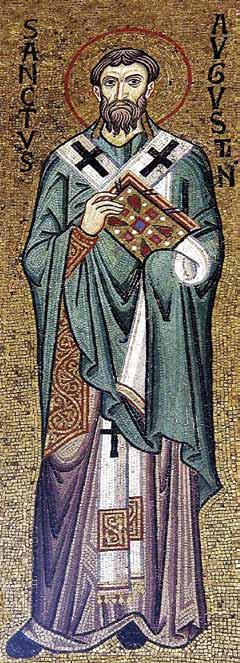 Fericitul Augustin, mozaic, Capella Palatina,