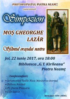 Simpozion Mos Gheorghe Lazar
