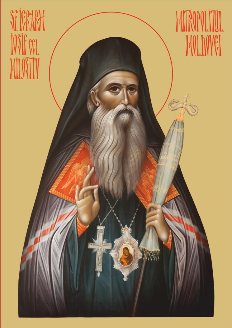Icoana Sfantul Ierarh Iosif cel Milostiv, Mitropolitul Moldovei